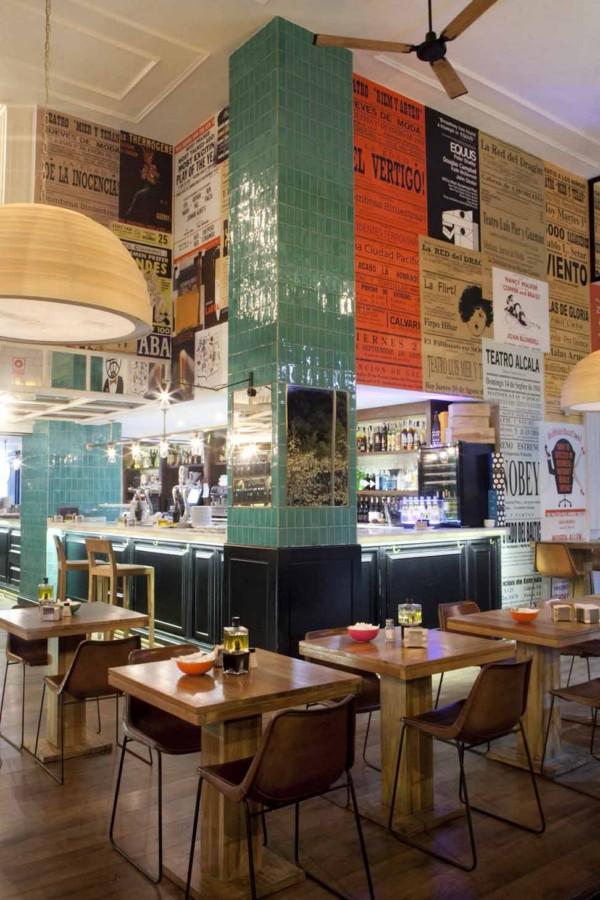 mesas del restaurante casa mono en madrid