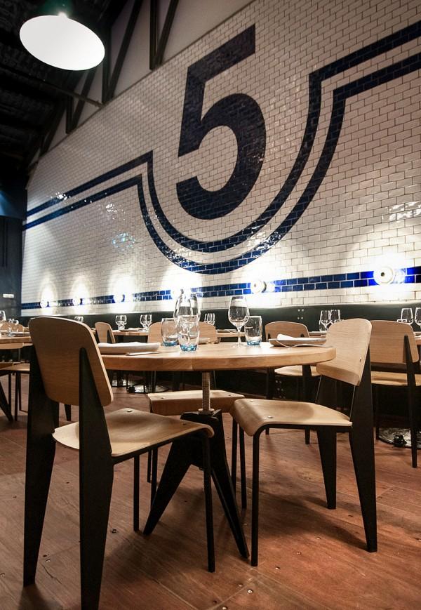restaurante melbourne pasado industrial baldosas Shed 5 diariodesign