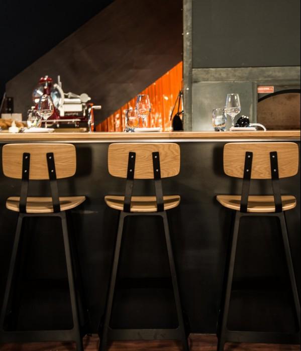 restaurante melbourne pasado industrial taburetes Shed 5 diariodesign