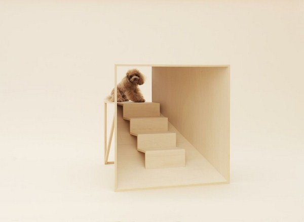 D-Tunnel para Teacup Poodle de Kenya Hara architecture for dogs en diariodesign