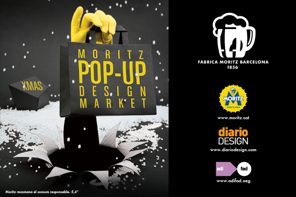 Xmas pop up design market cerveses Moritz diariodesign