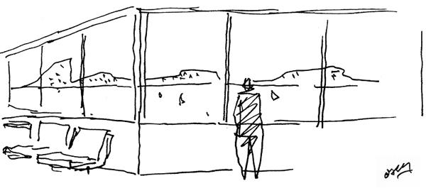 dibujo oscar niemeyer diariodesign