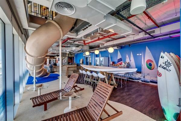 oficinas con toboganes google tel aviv