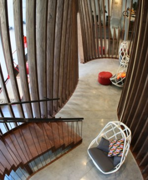 Generator Barcelona lobby estrucura madera