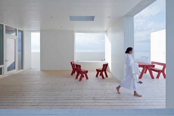 hotel Fogo Island Inn en Terranova canada saunas y bañeras de hidromasaje diariodesign