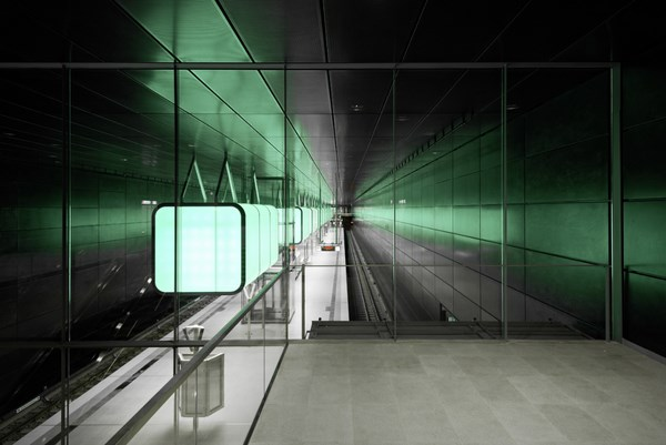 HafenCity University Subway Station by Pfarré Lighting Design