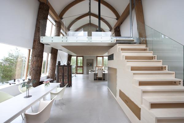 casa duna escaleras almacenamiento diariodesign