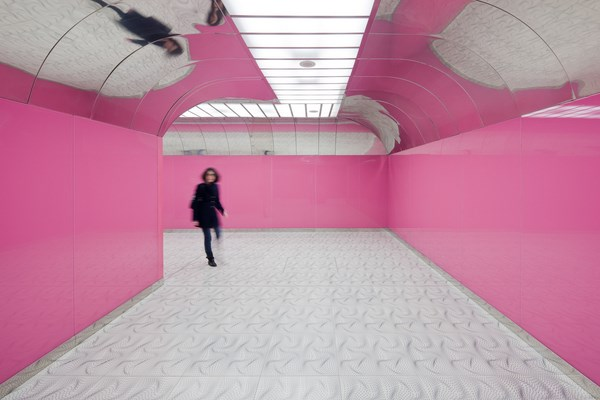 Naples Universita Subway Station by Karim Rashid