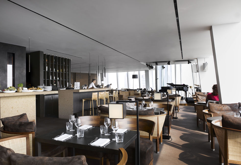 Oblix by claudio silvestrin the restaurant on the 32nd for Restaurants at the shard