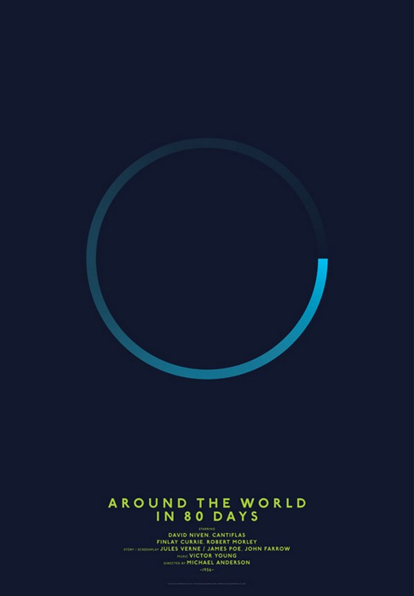 carteles de películas clasicos del cine around the world in 80 days diariodesign