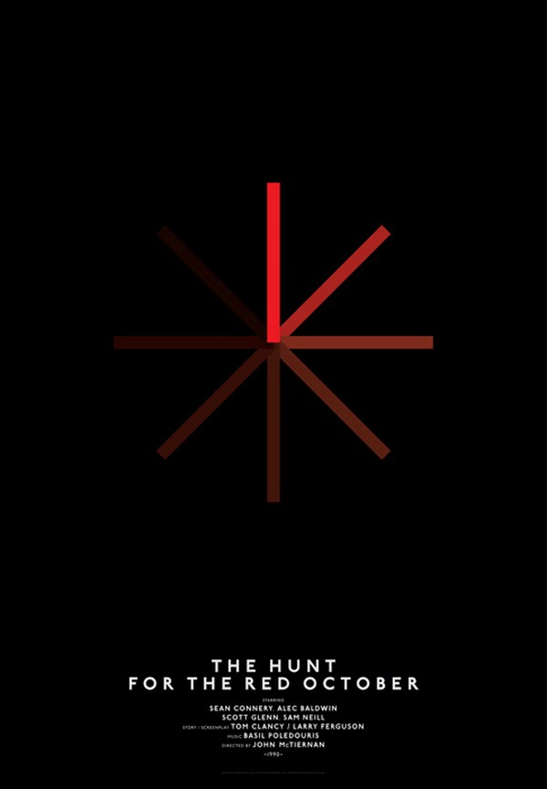 carteles de películasde cine the hunt for the red october diariodesign