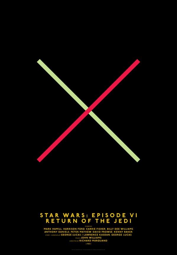 carteles de películas clasicos del cine Star wars diariodesign