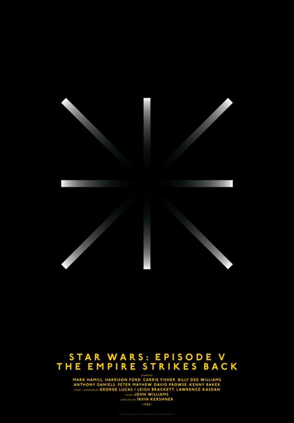 carteles de películas clasicos cine star wars episode V diariodesign