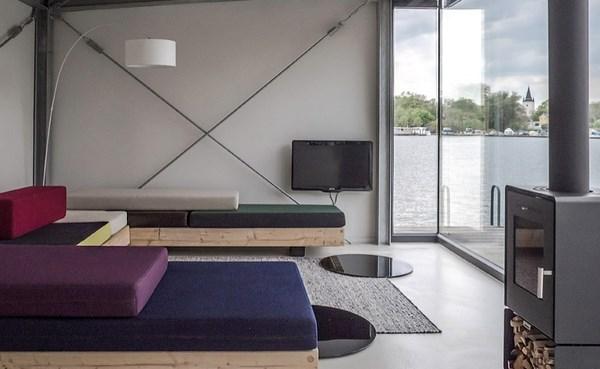 7 modern houseboat