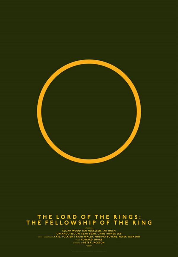 carteles de películas clasicos cine el senor de los anillos diariodesign