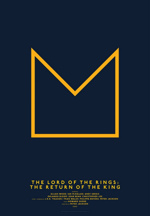 carteles de películas de cine the lord of the rings diariodesign
