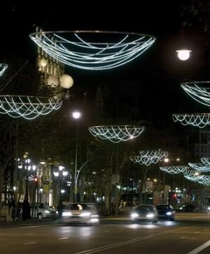 passeig gracia iluminacion navidena barcelona