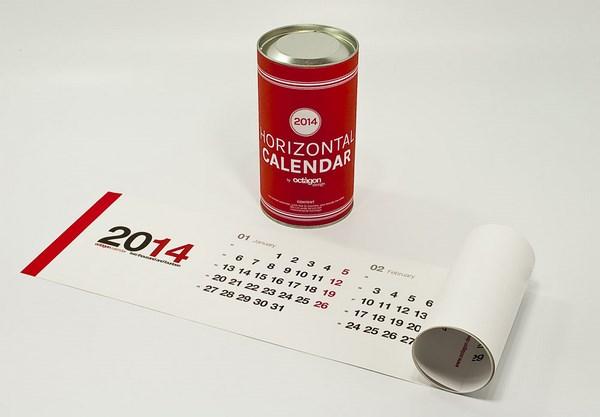 12 Horizontal calendar de Octagon