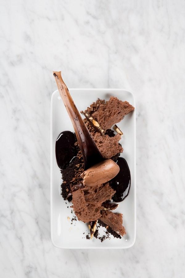 Postres: Texturas chocolate