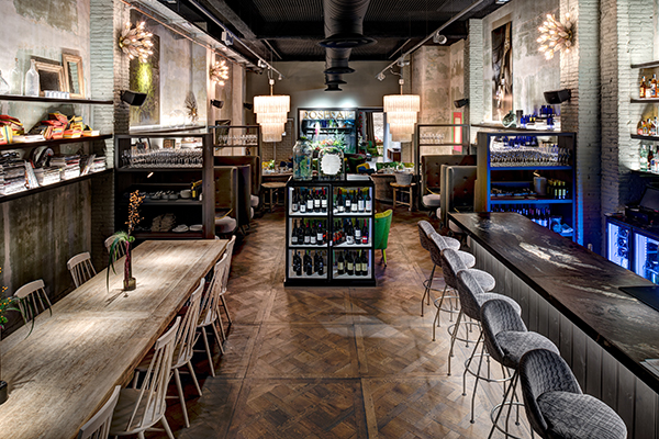 Concept store caf restaurante mercado arty y for International decor spain