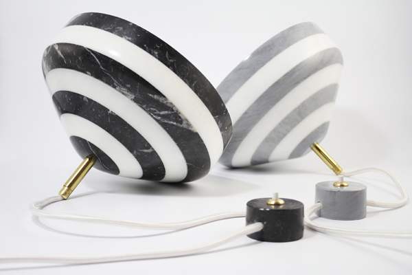13 pirouette lamp-mix marble