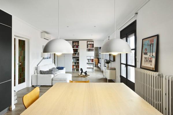 The hall studio dise a un tico familiar en sant antoni el barrio m s hipster de barcelona - Disena studio ...