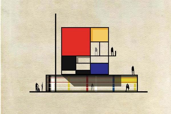 Archist: 27 edificios icónicos transformados en obras de arte, por Federico Babina.