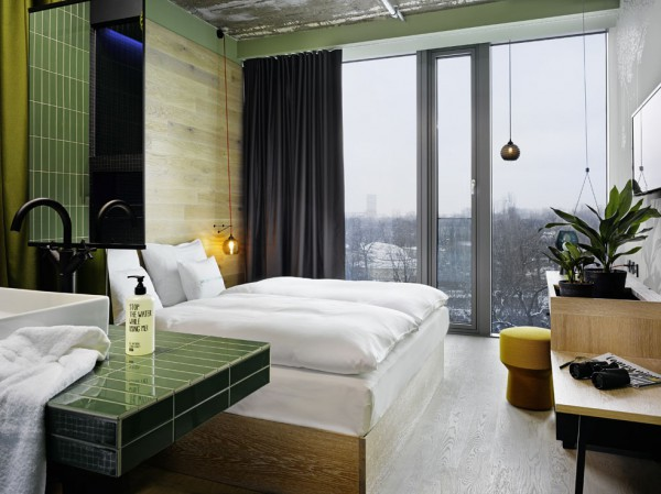 werner aisslinger designs for 25hours hotels its first opening in berlin hotel bikini diario. Black Bedroom Furniture Sets. Home Design Ideas