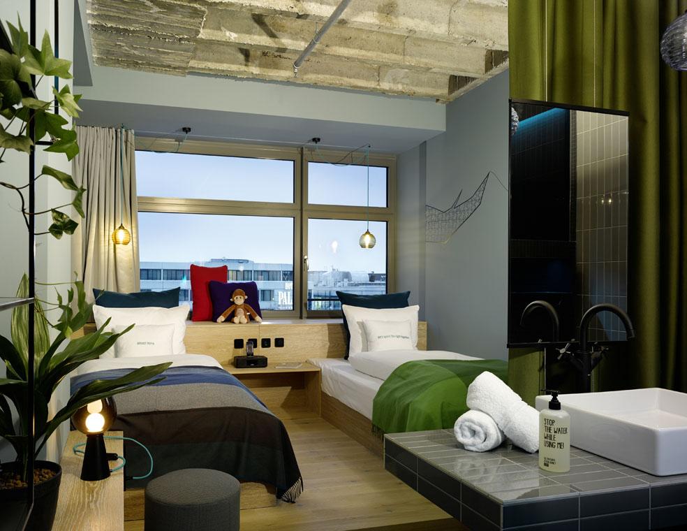 werner aisslinger designs for 25hours hotels its first opening in berlin hotel bikini. Black Bedroom Furniture Sets. Home Design Ideas