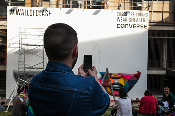Fotos Converse #wallofclash 4