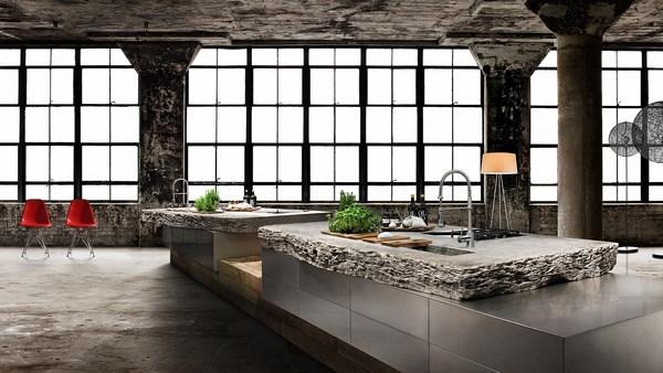7-WERKHAUS-Designkueche_Muschelkalk_Edelstahl_BORA