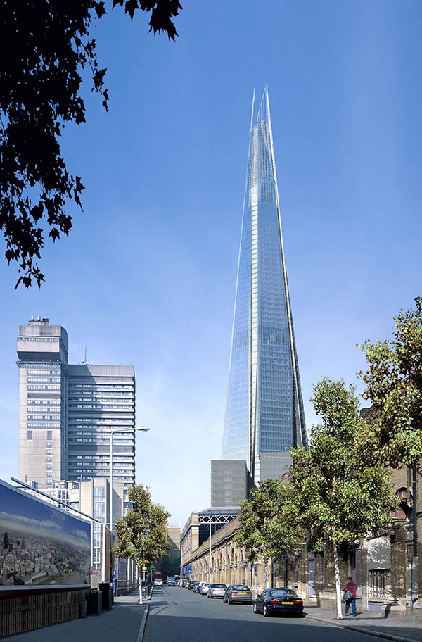 London's Growing… Up! Shard - East view - Copyright of Sellar Group