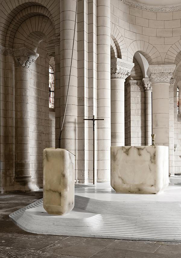 St Hilaire church in Melle by Mathieu Lehanneur 2