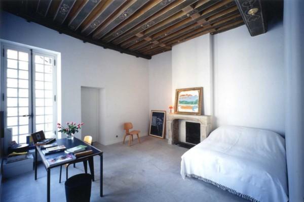 Dormitorio de Massimiliano y Doriana Fuksas.