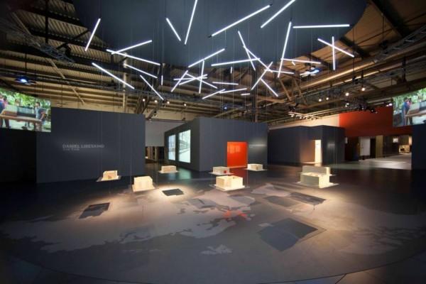 La instalación en Milán.
