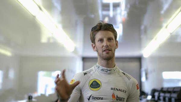 Human Ignition of Lotus F1® Team  + burn Romain Grosjean
