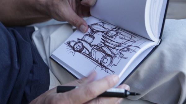 Human Ignition of Lotus F1® Team  + burn- Harald Belker shares his sketches of future F1