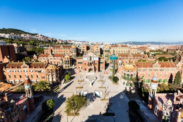 Vista aerea de Hospital de Sant Pau Barcelona
