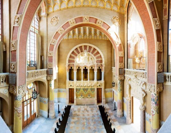 Reconstruccion Hospital de Sant Pau en Barcelona