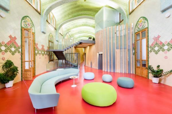 Sala del Hospital de Sant Pau en Barcelona