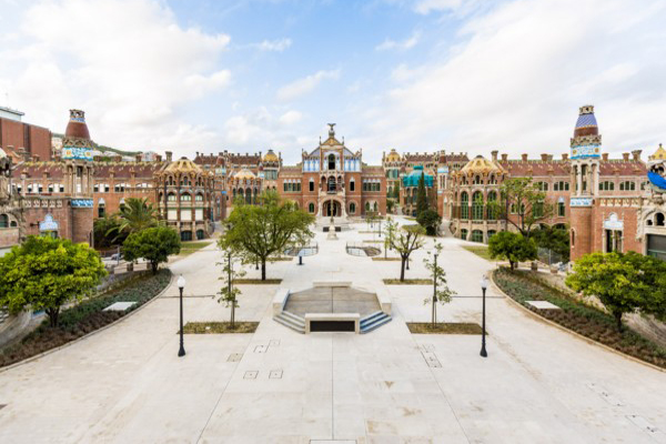 Vista de  Hospital de Sant Pau Barcelona