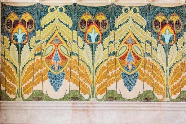 Sant Pau mosaicos modernistas en Hospital de Sant Pau
