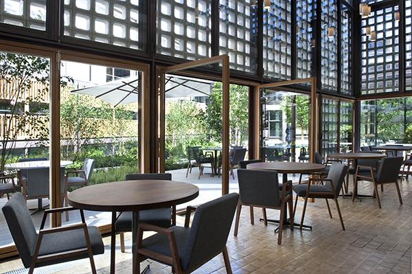 El restaurante bosco de lobos coloniza el coam for Restaurante escuela de arquitectos madrid