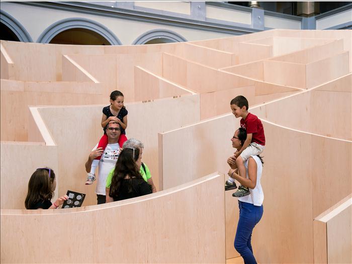 BIG ha diseñado para el National Building Museum de Washington un sorprendente laberinto