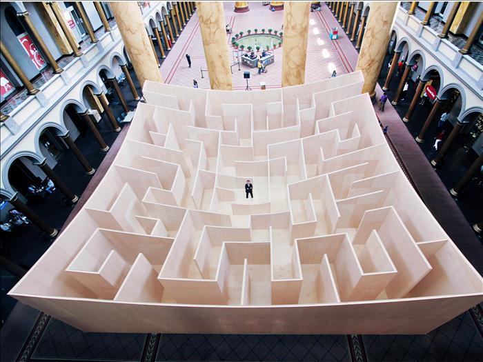 BIG ha diseñado para el National Building Museum de Washington un sorprendente laberinto diariodesign