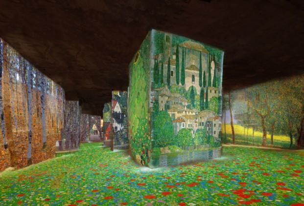 carrieres_de_lumieres_simulation_klimt_nature_copyright_culturespaces
