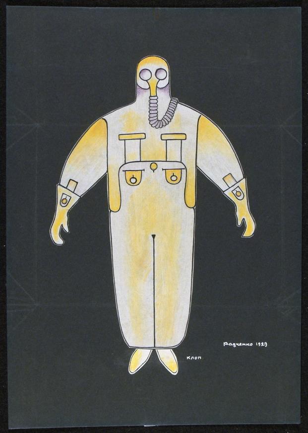 Vestuario para Bedbug, Alexander Rodchenko. © A. A. Bakhrushin State Central Theatre Museum