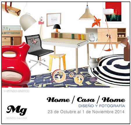 cartel de presentacion de home casa home en Mondo Galeria 2014