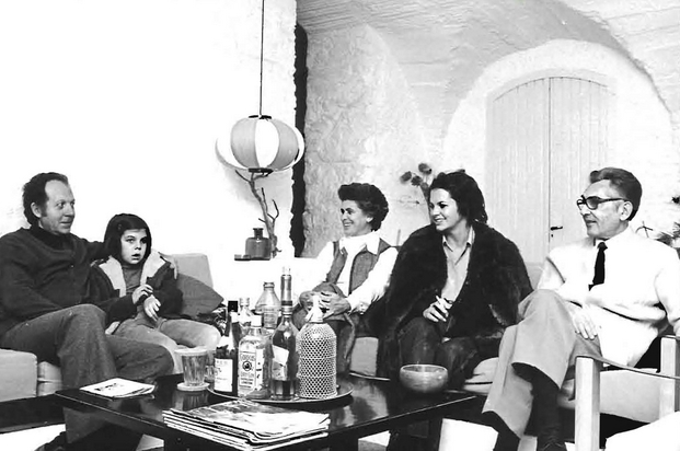Coderch con la familia Güell en Espolla