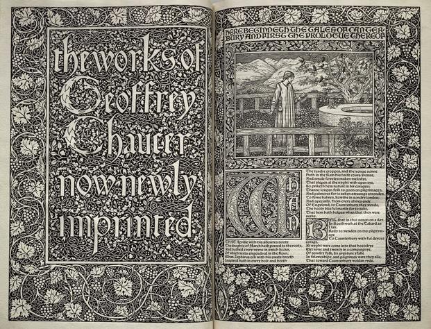 William Morris, tipografías